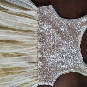 Gold dress for girl size 3-4